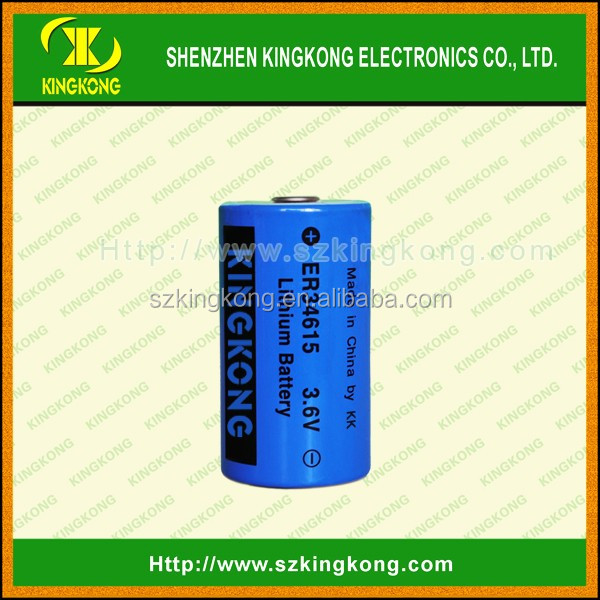 3.6V 19Ah ER34615 li-ion Battery with wire and connector