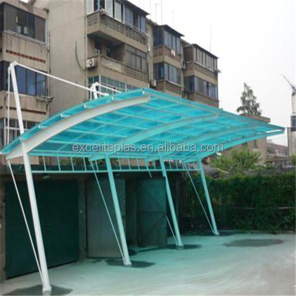 Hoja de policarbonato que cubre cochera canopy techo for Cubiertas transparentes para techos