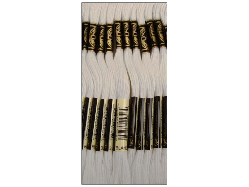 Bulk Buy: DMC Thread Six Strand Embroidery Cotton 8.7 Yards White 117-BLANC (12-Pack)