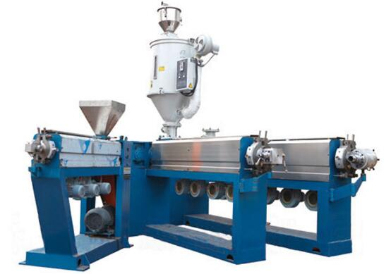 SPV-125 PVC insulation copper wire extruder machine/power cable extruding machine