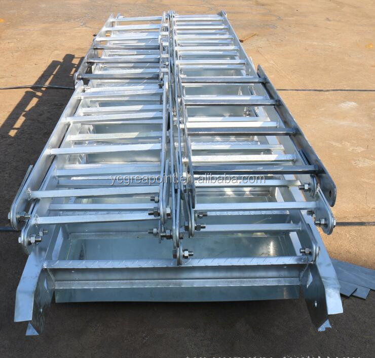 Stainless Steel Boat Inclined Ladder used in Marine industry