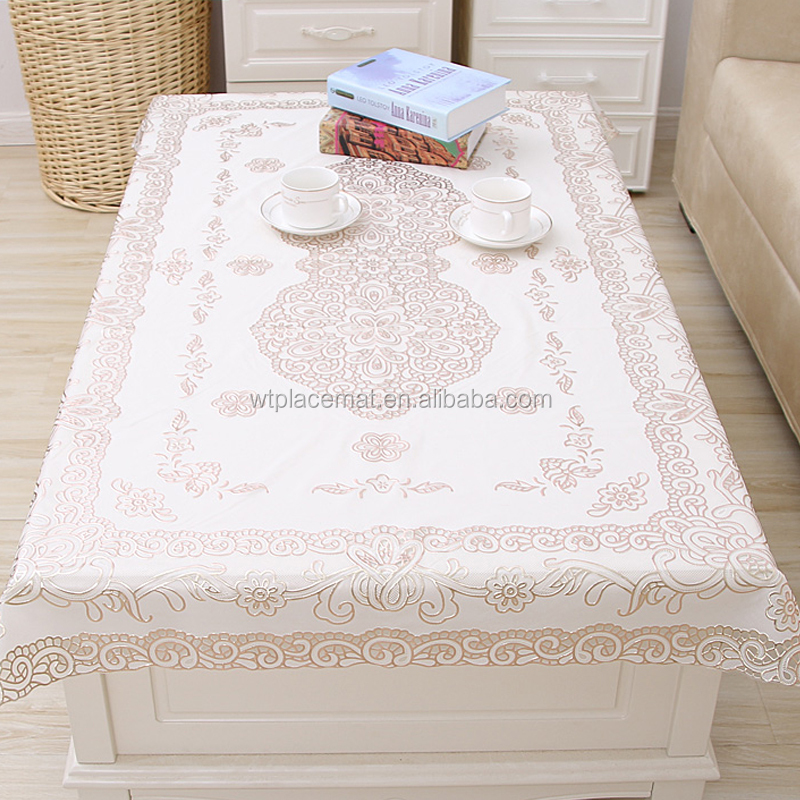 Oilproof Chinese Wholesale Birthday Party PVC Plastic Table Cover For Children, Rose Gold Table Mat Cover
