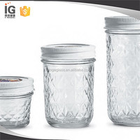 Ball Quilted Crystal Jelly Jars For Soap/hand lotion dispenser