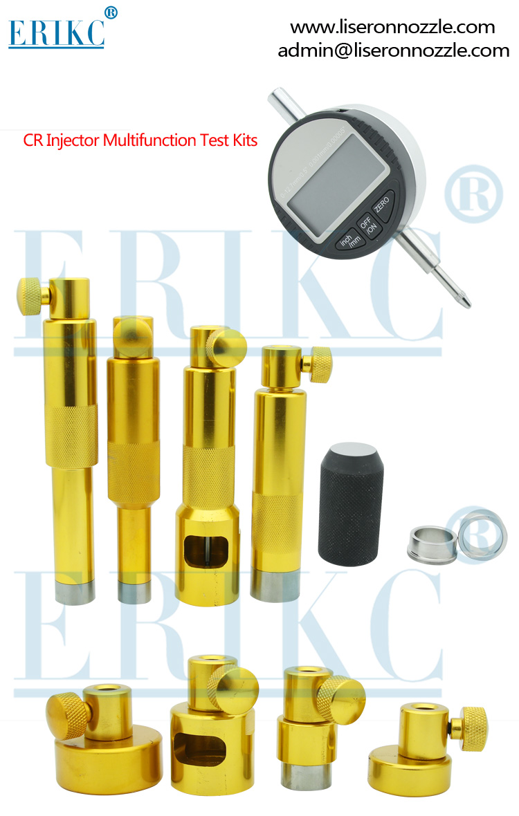 ERIKC Fuel injector Lift measurement tool , CR injector multifunction test kit and Injector lift measurement tool