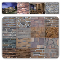 Decorative imitation stone faced wall tiles claddings faux stone veneer