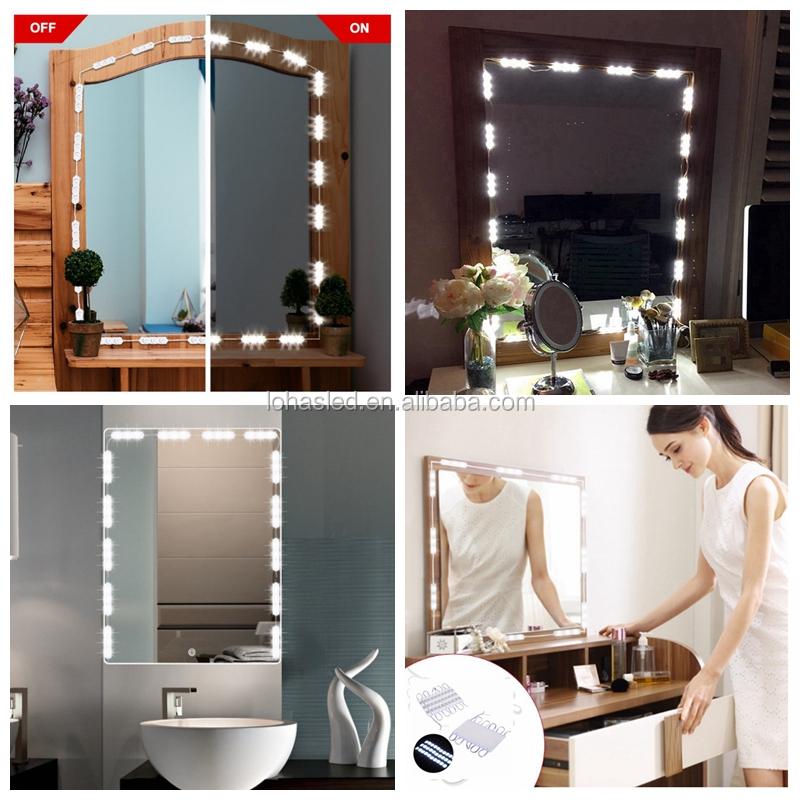 Diy Hollywood Style Led Vanity Mirror Lights Kit 22w Led String Light For Makeup Mirror Buy Led Mirror Light Makeup Mirror Led Led Mirror Product On Alibaba Com