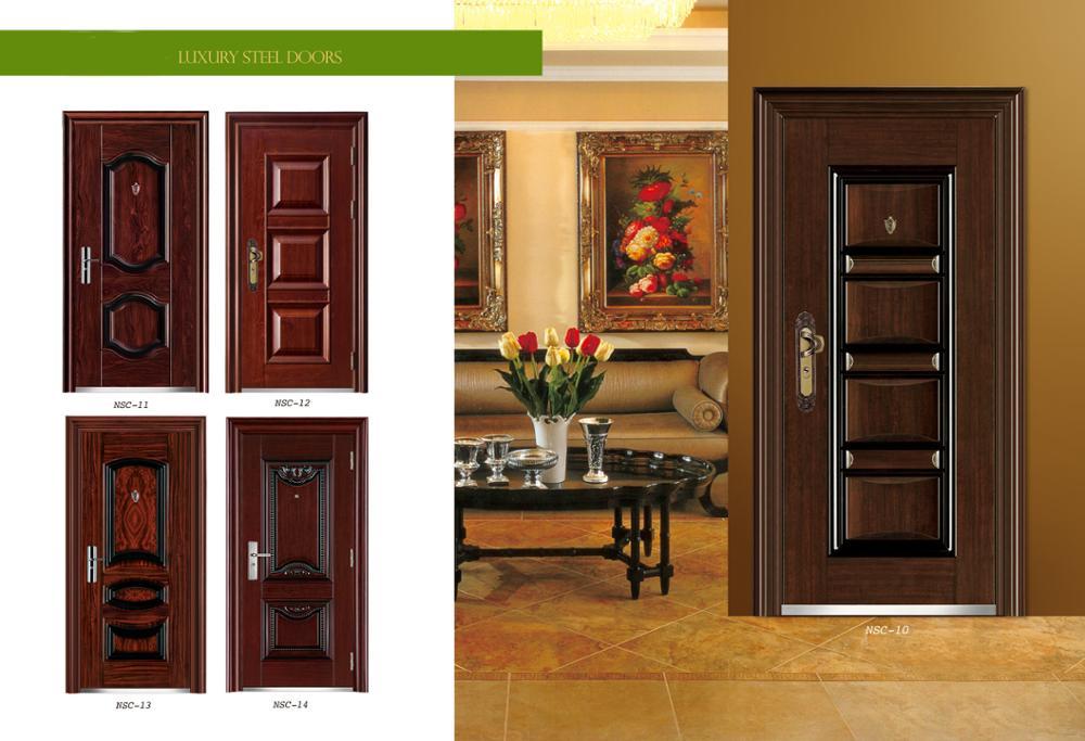 Iron Steel Security Metal Door Interior Steel Security Doors Cheap