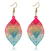 Korean Style Earrings Handmade Jewelry for Women Drop Earrings Alloy Leaf Design