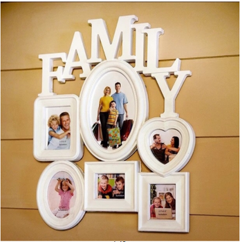 Wish Top SellingNew Collage Picture Frame 6 Openings Family Hanging Picture Frame Photo Frame For Wall Decor Gift To Family