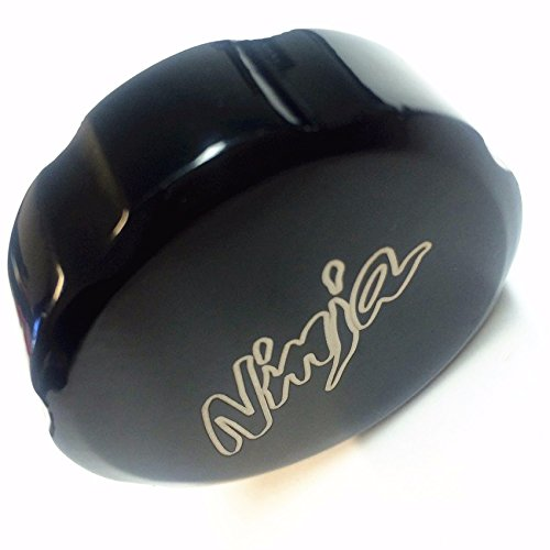 "HTTMT Group Motorcycle Black Brake Fluid Reservoir Cap Cover ""Ninja"" Engraved For Kawasaki Ninja ZX6R 1998-2014 ZX7R 1991-2003 ZX9R 1998-2003 ZX10R 2004-2014 ZX14R 2006-2014"