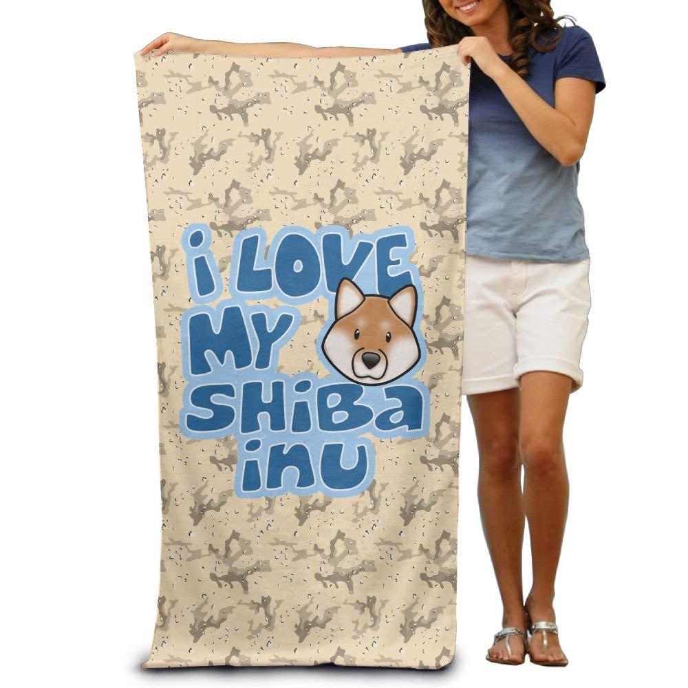 97115acf57 Get Quotations · Kkajjhd I Love My Shiba Inu Wrap Bath Shower Towel For  Pools,gyms,beaches