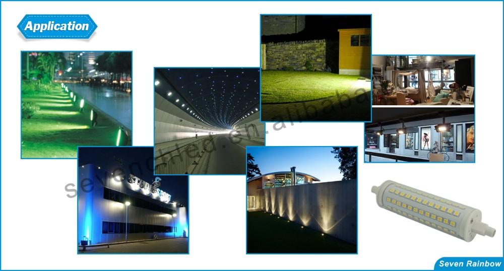 30 w 118 millimetri r7s ha condotto la lampadina 138 MILLIMETRI LED R7S lampadine 3000-3300lm 60 w r7s ha condotto la lampada lampadine