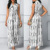 New Ladies Fashion Dress 2017 Design Stylish Women Jumpsuit Sleeveless High Waist Printed White Jumpsuit