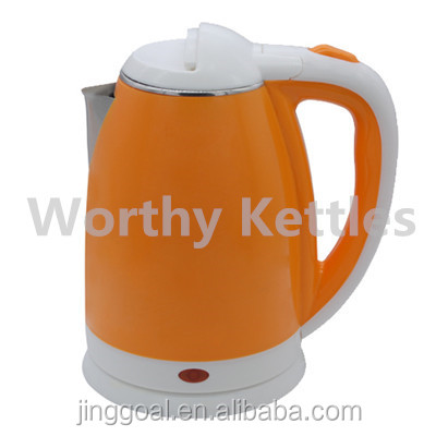 Anti-scald double layers cheap 1.8L cordless SS electric kettles low price