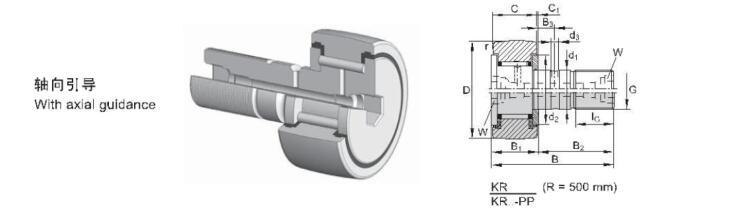 CF3 CF4 CF5 CF6 CF8 Cam Followers Stud Type Track Roller Bearings