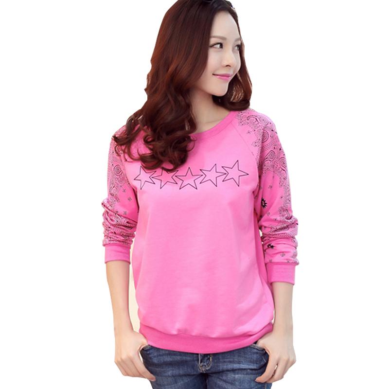 5b6d481e8a4 Get Quotations · graphic tees women t shirt womens tops fashion 2015  vintage cotton long sleeve print t-
