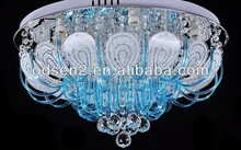 popular blue fancy crystal chandelier and decorative
