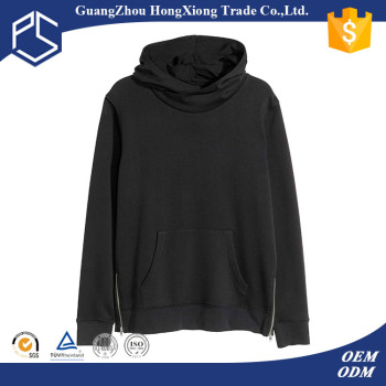 Hongxiong Oem High Neck Pocket Blank Black 100%cotton Pullover ...