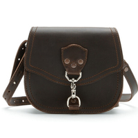 Brown crazy horse leather handbag tan small bag leather hand bags