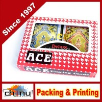 H.quality Poker Playing Cards 2 Colors Full Set ACE Deluxe 100% Plastic (430116)