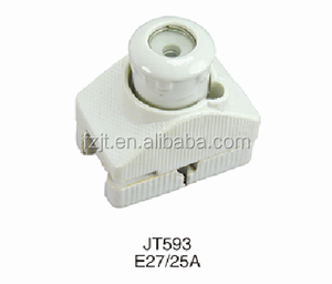 Porcelain fuse ,ceramic screw type fuse holder E27 25A