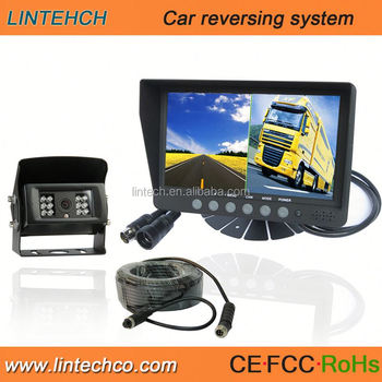 Wide View 7 Inch Night Vision Birds Eye View Car Camera