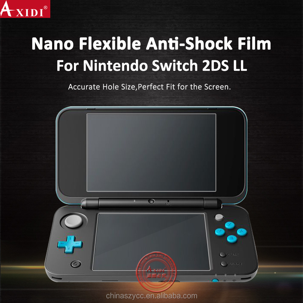Newest nano flexible anti shock screen protector for Nintendo Switch 2DS LL Video Game Player screen protective film