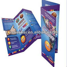 Custom printing service for paper flyer/leaflet/brochures/manual with good serivce