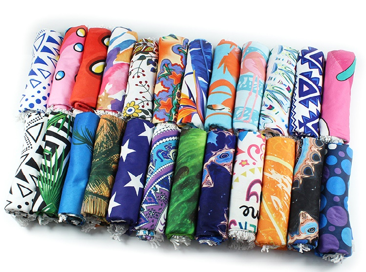 New Design Rectangle Sublimation Custom Print Microfiber Beach Towel