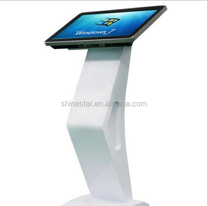 "Android or PC 22"" inch TFT LCD alone stand capacitive multi touch interactive information kiosk"