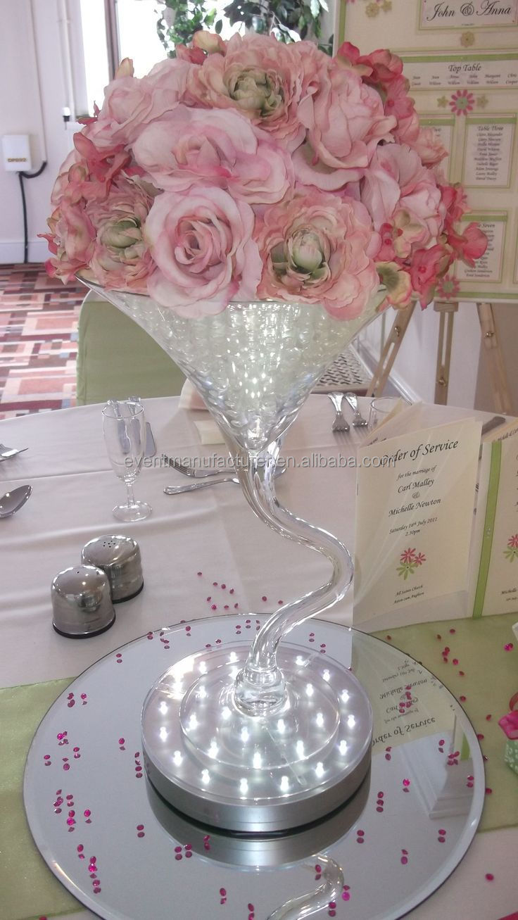 Wedding table centre pieces wholesale china martini vase