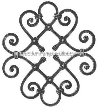 Wrought Iron Rosettes Garden Decor House Gate Designs Window Grills Flower Panels