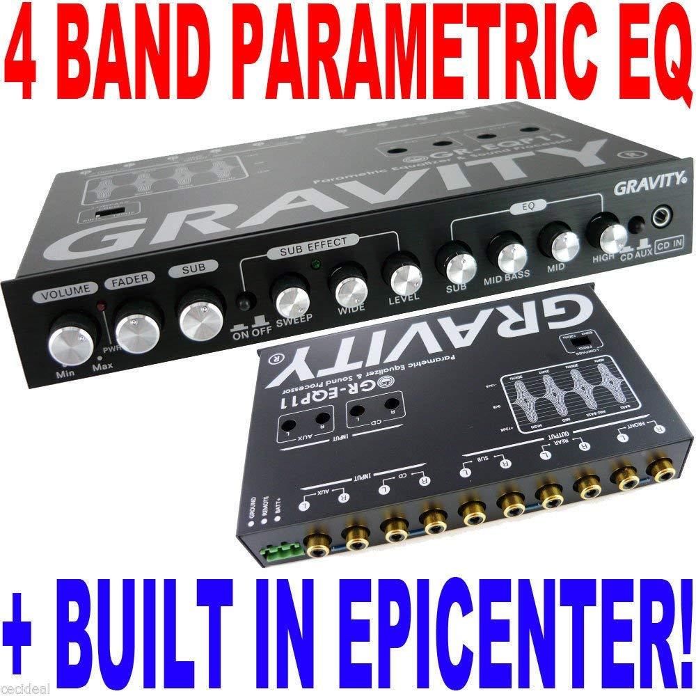 Gravity GR-EQP11 Digital Bass Processor/4-Band EQ Epicenter Equalizer BX-4EQ NEW