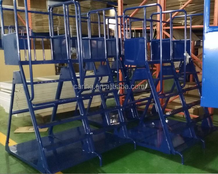 2015 New Design Mobile Ladder Trolley Platform Ladder
