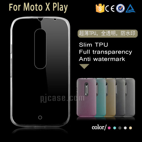 Transparent ultra thin clear tpu back case cover for Motorola Moto X Play case