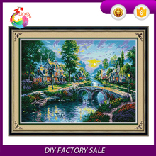The new arts and crafts living DIY cross stitch package village dawn