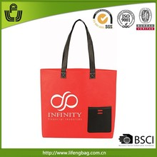 2014 hot selling eco-friendly professional red jelly tote bag