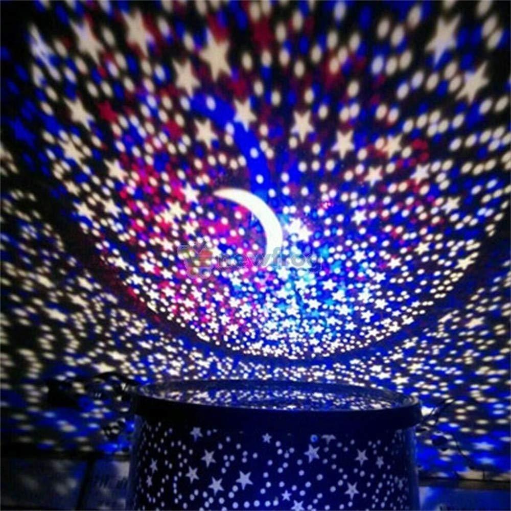 Rumas Star Master LED Night Projector - Romantic Light LED Night Lamp for Kids Room Bedroom - Energy Saving Long Lifespan Beside Lamp (Black)