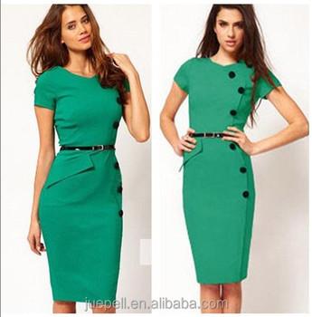 e41e5acfb 2018 vestido de moda para las mujeres ropa de trabajo de verano vestido  Oficina lápiz vestido