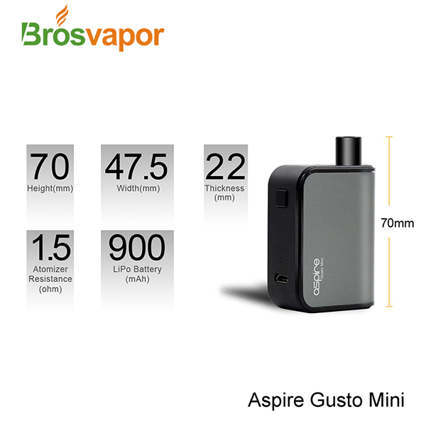 Aspire Gusto Mini AIO Closed Tank System Starter Kit