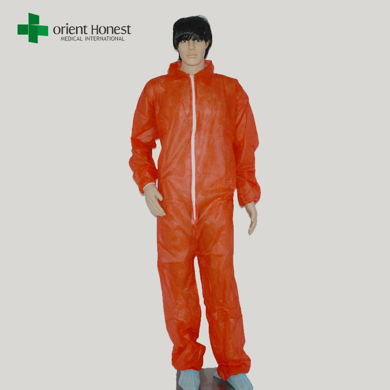 PP Nonwoven disposable working safety coverall good quality with hood