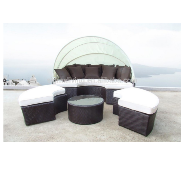 2018 All Weather Outdoor furniture wicker patio bed round