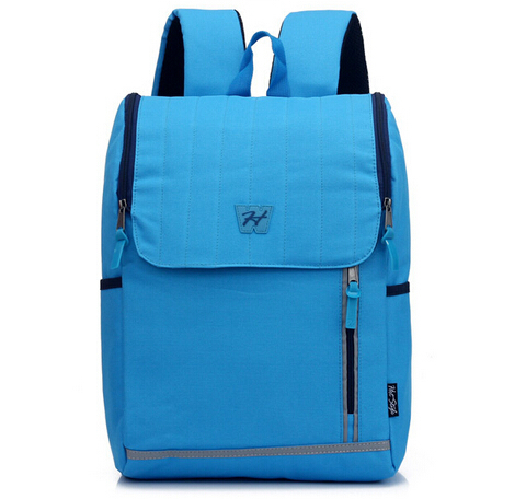Lovely Style Solid Big Capacity Backpack Blue Waterproof Nylon Backpack Casual Laptop Bag Travel School Bag Preppy Style