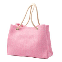 Large woman fashion tote bag blank canvas lady shoulder bag