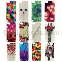 Colour Pen Heart Pattern TPU Protective Back Case for iPod Touch 5