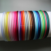 10mm plastic Headband Covered Satin Wholesale Lots Hair Accessories