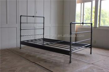 Hot Koop Vintage Industriële Stijl Meubels Slaapkamer Metalen Bed ...