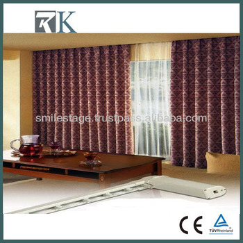 Rk High Quality Fireproof Cheap Motorized Curtain Used In