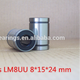 10pcs LM8UU 8mm x 15mm x 24mm 8mm linear ball bearing bush bushing for 8mm rod round shaft 991-10