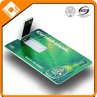 8GB 16GB 32GB Full color 2 Sides printing CR80 USB Business card,Business Card with USB